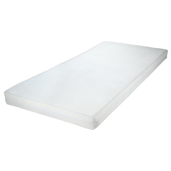 Matras T Stuk : Matras basic; 90x200x10cm bxlxh ; wit; eenkleurig; synthetische